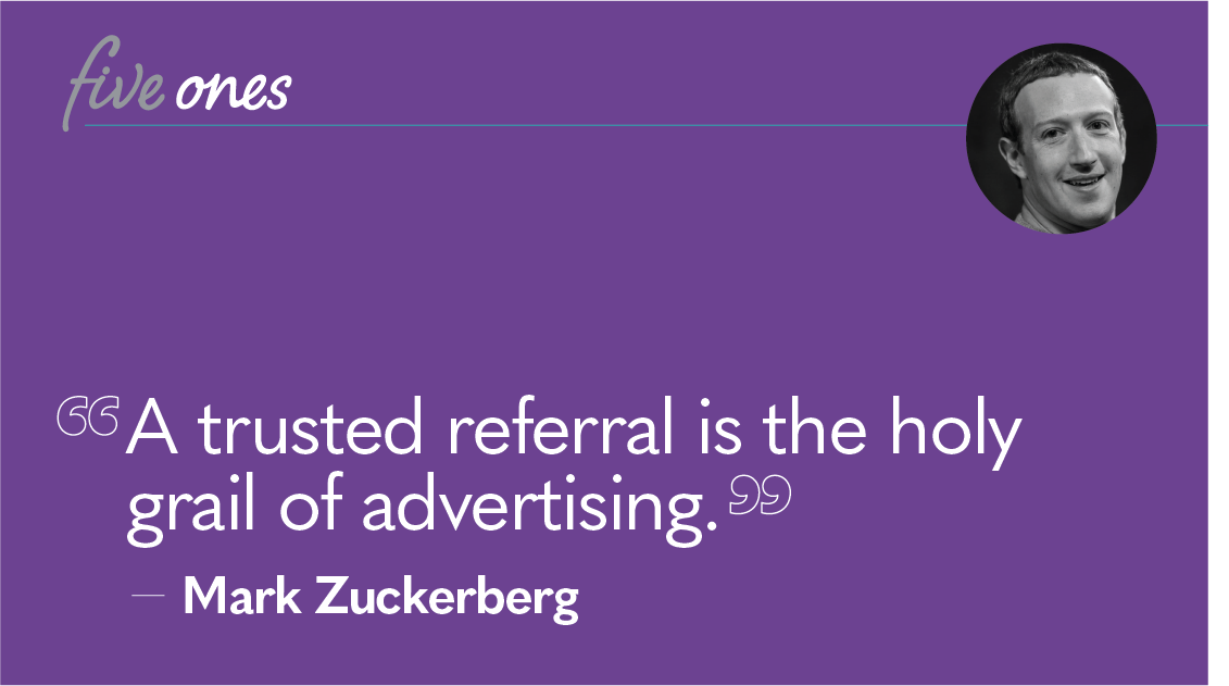 Influencer Marketing Mark Zuckerberg Quote